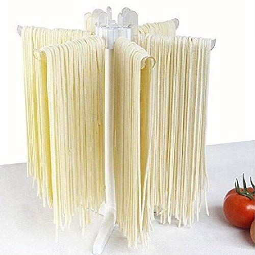Gcdn Pasta Stendino con 6 Asta Maniglie Richiudibile Pieghevole Casa Pasta Asciugatrice Spaghetti Asciugatrice Stand Pasta Asciugatura Strumenti
