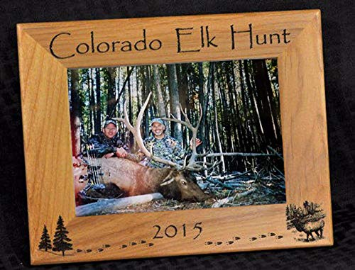 Elk Hunt Picture Frame ~ Hunting Gift ~ Gift For Elk Hunter ~ Hunting Picture Frame ~ Elk Hunter Gift ~ First Hunt Gift ~ Customize Your Engraving ~ Hunting Memories ~ Hunting Decor ~ Picture Frames