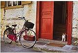 ChuYuszb Puzzle 1000 Piezas para Adultos, Bicicleta estacionada en la Puerta, Entretenimiento, Madera, Juguetes, Rompecabezas educativos, Juegos para niños, decoración del hogar