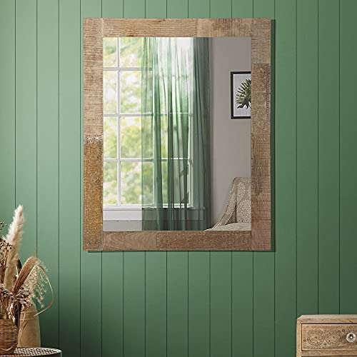 WOMO-DESIGN Espejo de Pared 100x80 cm Rectangular de Cristal con Marco de...
