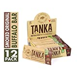 Bison Pemmican Meat Bars with Buffalo & Cranberries by Tanka, Gluten Free, Beef...