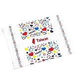 Spfree Bonbonpapier Süßigkeitspapier Verpackungspapier,Wachspapier Pergamentpapier Backpapier für Partys Hochzeiten feiern Geschenktüten und Süßigkeiten (Taiwan Love)