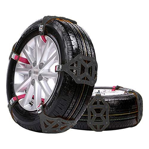 Beauty Life - Cadenas de nieve antideslizantes para neumáticos de coche, 8 unidades, cadenas antideslizantes para vehículos de pasajeros, camionetas, SUV, camiones (negro)