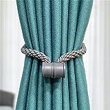 KLHHG Correas de Cortina con Hebilla magnética, vínculos de Cuerda de cáñamo, Accesorios de Atadura, sin perforación, Cuerda de Atar, Clip de Cortina (Color : D, Size : One Size)