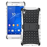 SCIMIN Rugged Case for Sony Xperia Z5 Premium, Hybrid Case for Sony Xperia Z5 Premium, Dual Layer Protection Shockproof Cover Hybrid Rugged Case with Kickstand for Sony Xperia Z5 Premium
