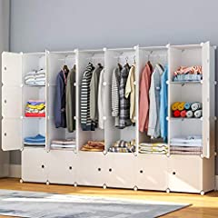"✔【LARGE & MULTI-USE STORAGE】 A total size of 84"" x 18"" x 56"". Each cube can support more than 22 lbs. Great storage space to store clothes, bags, accessories, shoes, and many other things you want! ✔【STRONG & STURDY DESIGN】Cube Panel is made of a hig..."
