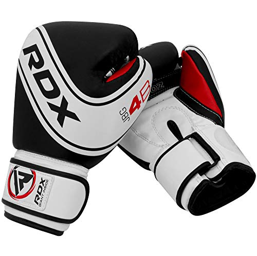 RDX Kids Boxing Gloves for Training & Muay Thai Maya Hide Leather Junior 4oz, 6oz Mitts for Sparring, Focus Pads, Fighting & Kickboxing Good for Youth Punch Bag, Punching and Grappling Dummy