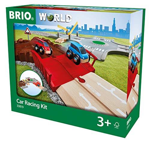 BRIO World Car Racing Kit para niños a Partir de 3 años, Compatible con Todos los Juegos de Tren BRIO