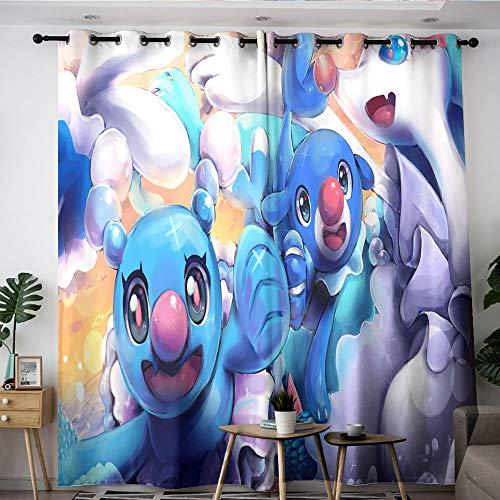 Elliot Dorothy Pikachu pokemon cartoon TV Washable curtains Backout Curtain Set Window Curtain Drape for boys girls room W55 x L45