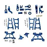 #N/A/a Kits de Piezas de chasis de actualización de Coche RC para Slash 727 4x4 1/10 Piezas de camión RC, Juego de dirección Inchude, Asientos en C, Brazos - Azul