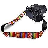 FYSL Adjustable Camera Strap Vintage Camera Shoulder Neck Strap Belt Universal Camcorder Belt Strap for All DSLR Camera Canon Nikon Sony Pentax Fujifilm(Multicolor)