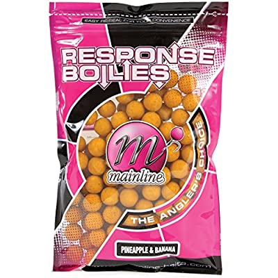 Mainline Carp Fishing Pineapple & Banana Boilies 15MM Handy Pack 200 Gram from Mainline