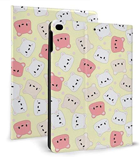 Cute Bear Hear PU Funda Inteligente de Cuero Función Auto Sleep / Wake para iPad Mini 4/5 7,9 'y iPad Air 1/2 9,7' Funda