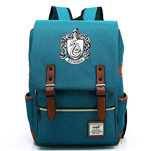 MMZ Bolsa de deporte para estudiantes de secundaria, mochilas para niños y niñas adolescentes con estampado de insignia de Slytherin Mochila informal 38x27x12.5cm (#9)