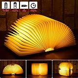 LED Buchlampe Stimmungslicht dekorative Buch Lampe RGB Farbwechseln, JOLVVN 360° faltbar Deko...