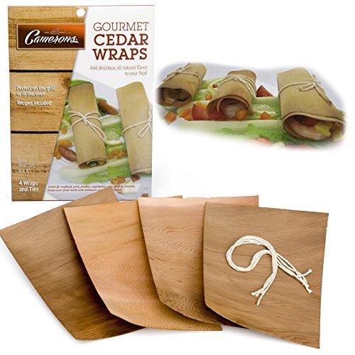 Gourmet cedro, conjunto de 4- cocinar y asar Wraps incluye Carnicerías twine- perfecto para la parrilla o horno