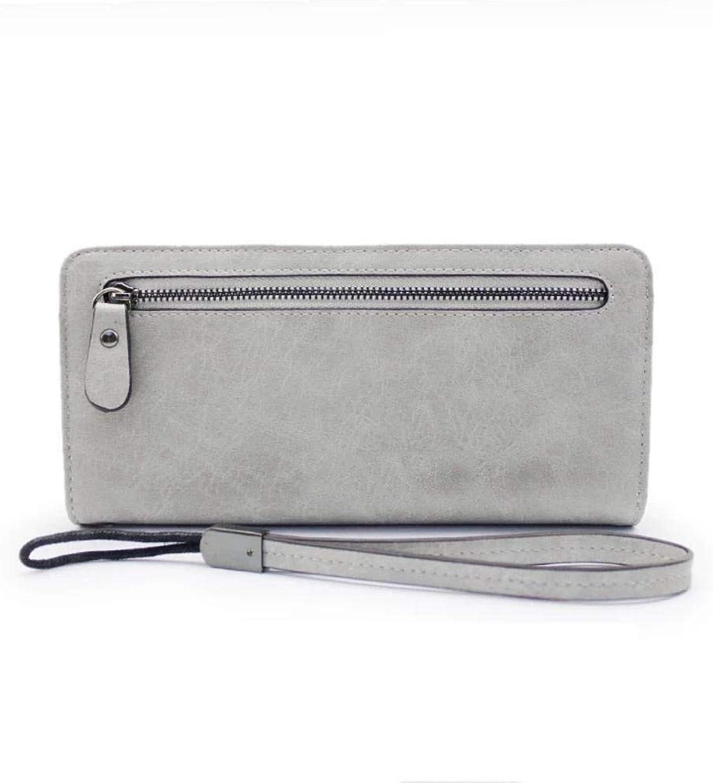 Girls Purse Women's Wallet Mobile Phone Bag Highend MultiFunctional Vintage LargeCapacity Handheld Lady Purse (color   D)