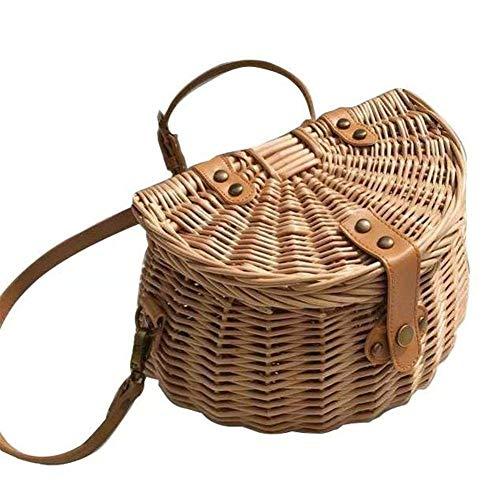 Estrella-L Cesta pequeña trasera para niños, bolsa tejida a mano, cesta de bicicleta, bolso de playa
