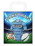 Bolsas de fiesta temáticas de rugby, para botín, para eventos y fiestas, color azul, 6 unidades
