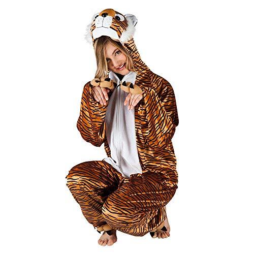 Boland - Costume de survêtement en peluche Tigre pour adultes, marron/noir, max 1,80 m, 88018