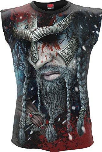 Spiral - Viking Wrap - Allover Sleeveless T-Shirt Black - XL