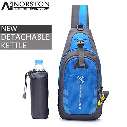 Norston Sling Bags Lightweight Small Chest Sling Shoulder Backpacks Bags, Crossbody Triangle Pack Rucksack Multipurpose Daypacks for Adults, Children Outdoor Cycling, Running, Hiking Travel (Blue)