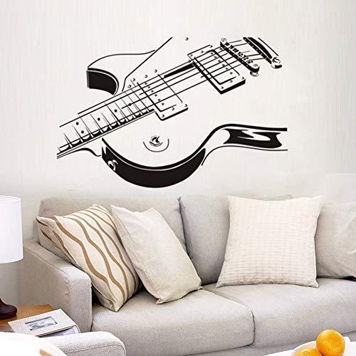 mlpnko Gitarre Wandaufkleber Musik Wandtattoo Home Furnishing Guitar Abnehmbare Tapete Musikinstrument Wall50X32cm
