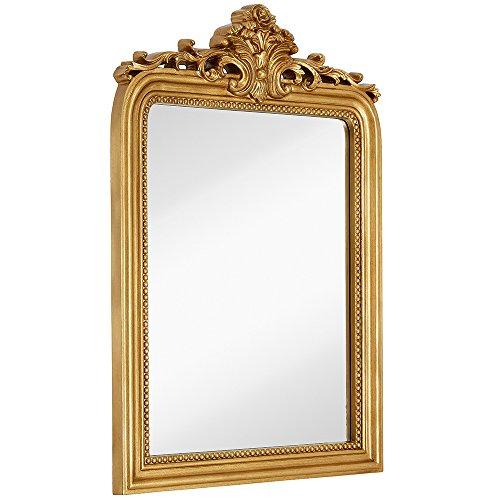 Hamilton Hills Top Gold Baroque Wall Mirror | Rich Old World Feel...