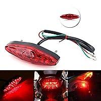 オートバイは信号を回します オートバイリアテールストップ赤いライトランプ汚れのティーチロライトリアランプブレーキライトオートアクセサリーオートバイ装飾ランプ (Color : Red)