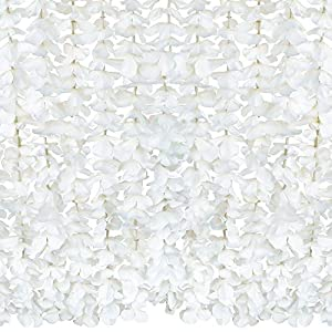 COOWAS 10 Pack (Total 65.6Ft) Artificial Silk Wisteria Hanging Flowers Garland for Home Bedroom Office Garden Wedding Party Wall Decor White