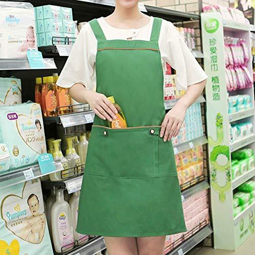 YXDZ Moda Hogar Supermercado Centro Comercial Maternidad Tienda Chaleco Estilo Delantal Salón De Belleza Manicura Esteticista Overoles Hembra Babero Correa Verde
