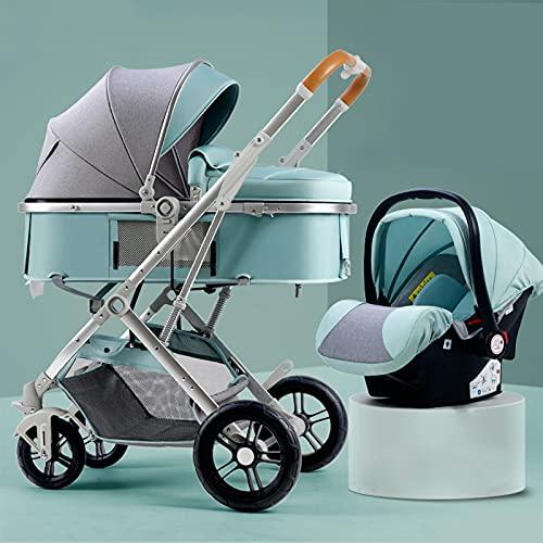 YSXFS 2 In 1 Kinderwagen-Reisesysteme, Folding-Baby-Trolley-Kinderwagen Mit Unabhängiger Kinderwagensitz- Und...