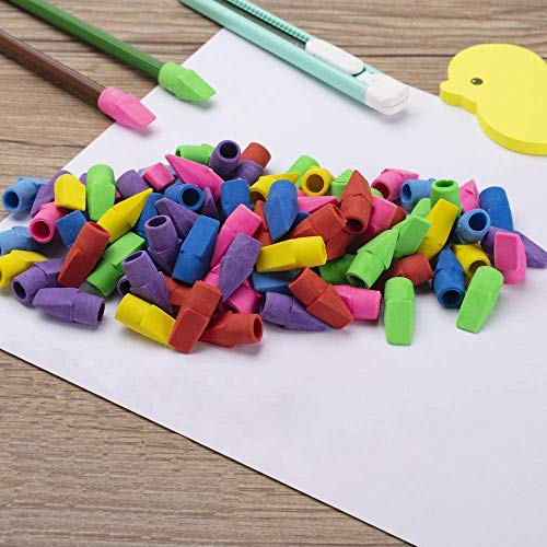 Sooez Pencil Erasers, 90 Pack Pencil Top Erasers & 6 Pack Pink Erasers, Cap Erasers Eraser Tops Pencil Eraser Toppers Erasers Studying Supplies for Teachers Pencil Erasers Photo #6