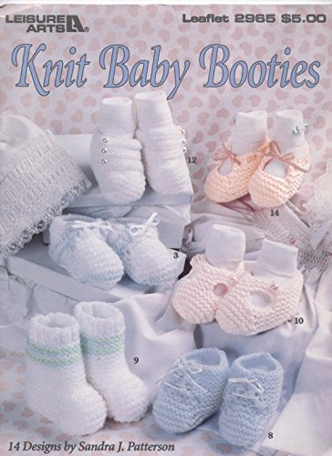 Knit baby booties: 14 designs (Leisure arts leaflet)