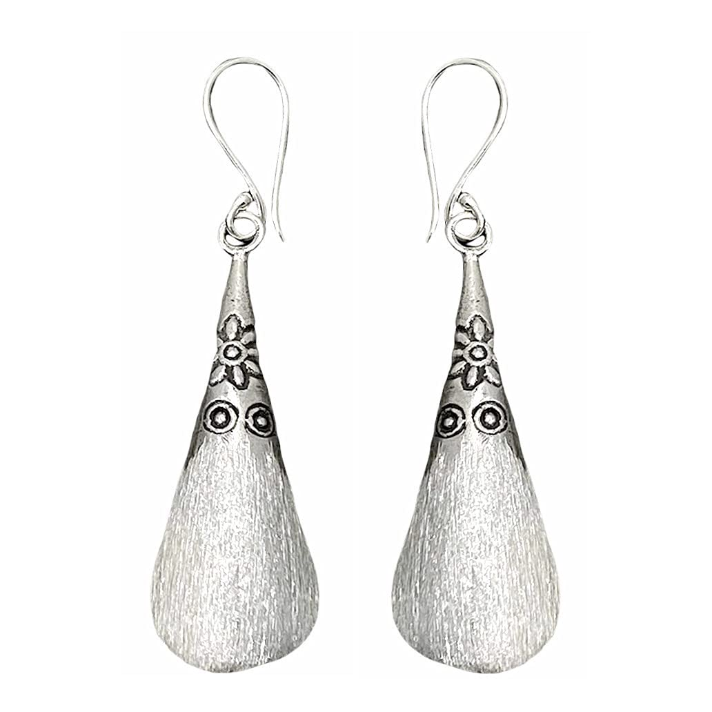 Handmade Sterling Silver Cone NEW shaped 3 shell 2 Dangle Earrings free shipping