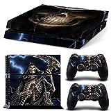 Mcbazel Calcomanías de la Serie Pattern Pegatinas de Vinilo Solo para PS4 original No para PS4 Slim / Pro (The Grim Reaper)
