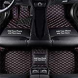 Cobear Fussmatten Auto 3D Autoteppich für FIAT 500X 500 Turbo Abarth 500C Trekking Panda Cross Viaggio Bravo Individuelle Passform Kunstleder wasserdichte 3D Voll Auto Matten Schwarz Rot 1 Set