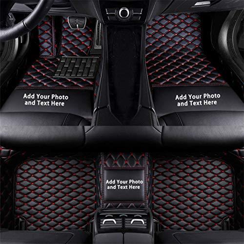 Cobear Fussmatten Auto 3D Autoteppich für Subaru Forester Outback Legacy XV WRX Sti Impreza BRZ Tribeca Individuelle Passform Kunstleder wasserdichte 3D Voll Auto Matten Schwarz Rot 1 Set