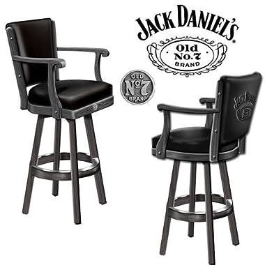 Jack Daniel's Bar Stool Wood w/ Backrest