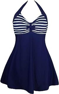 Goldt1 ネクタイの装飾とプリントパターンと女性のローカットタンキニのための水着ミッドウエストフラットパンツツーピースセクシービキニパッド入りビーチウェア水着