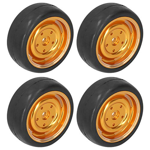 DAUERHAFT Resistencia al Desgaste Neumáticos RC Neumáticos RC de 63 mm Cubo de Rueda de Metal Aumenta el Agarre, para camión de Control Remoto con Rendimiento Estable