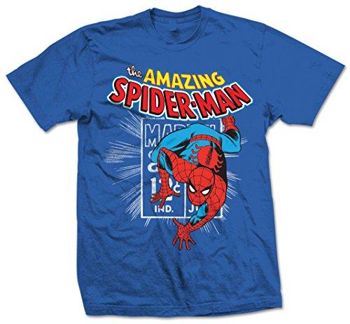 Marvel Comics Spidey Stamp-Camiseta Hombre