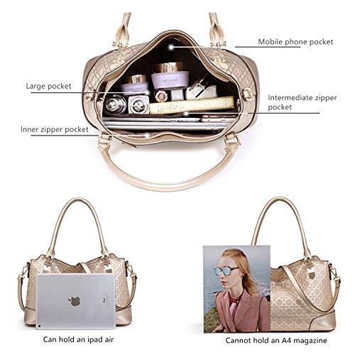 MATAGA Handbags for Women Leather Little Luxury Cross Body bags JHFX998049 (golden)
