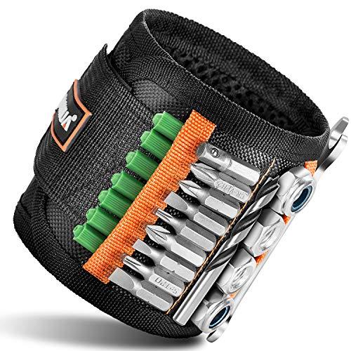 Magnetisches Armband mit starken Magneten für Schrauben, Nägel, Bohrer – Bestes einzigartiges Weihnachtsgeschenk für Männer, Heimwerker, Vater/Vater, Ehemann, Freund, Ihn, Frauen