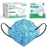 IDOIT Bunte FFP2 Maske blau Mund- und Nasenschutz Maske, 40 Stück farbige CE zertifizierte bunte Atemschutzmasken mit 5-lagige Filtration,einweg, atmungsaktiv