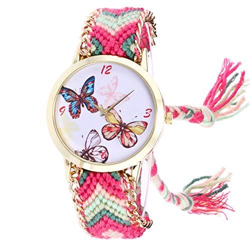 Lubier Relojes de pulsera de cuarzo con diseño de mariposas para mujeres y niñas standard-7 D
