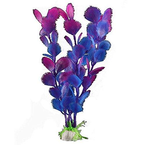 SAMGU Aquarium Fish Tank en Plastique Violet Plantes artificielles pour Aquarium Décoration Accessoires Ornements Couleur de Fond Violet