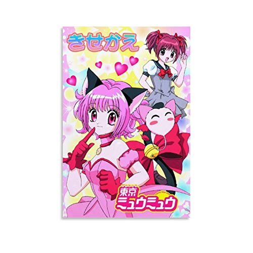 ETAU Tokyo Mew Mew Anime Posters Poster Decorative Painting Canvas Wall Art Living Room Posters Bedroom Painting 08x12inch(20x30cm)