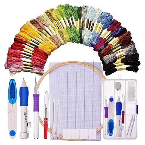 Lopbinte Kit de Inicio de Bordado Kit de Costura de Punto de Cruz Incluye Aguja...