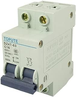 uxcell DZ47-63 C16 16A AC 400V Two Pole Mini Circuit Breaker